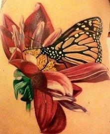 Motylek i kwiatek