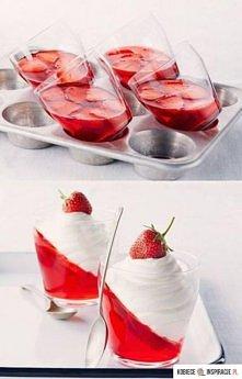 Składniki  - galaretka o smaku truskawkowym: 1 opakowanie - galaretka o smaku...
