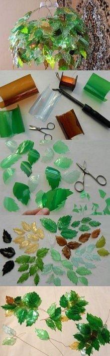 abażur z plastikowych butelek