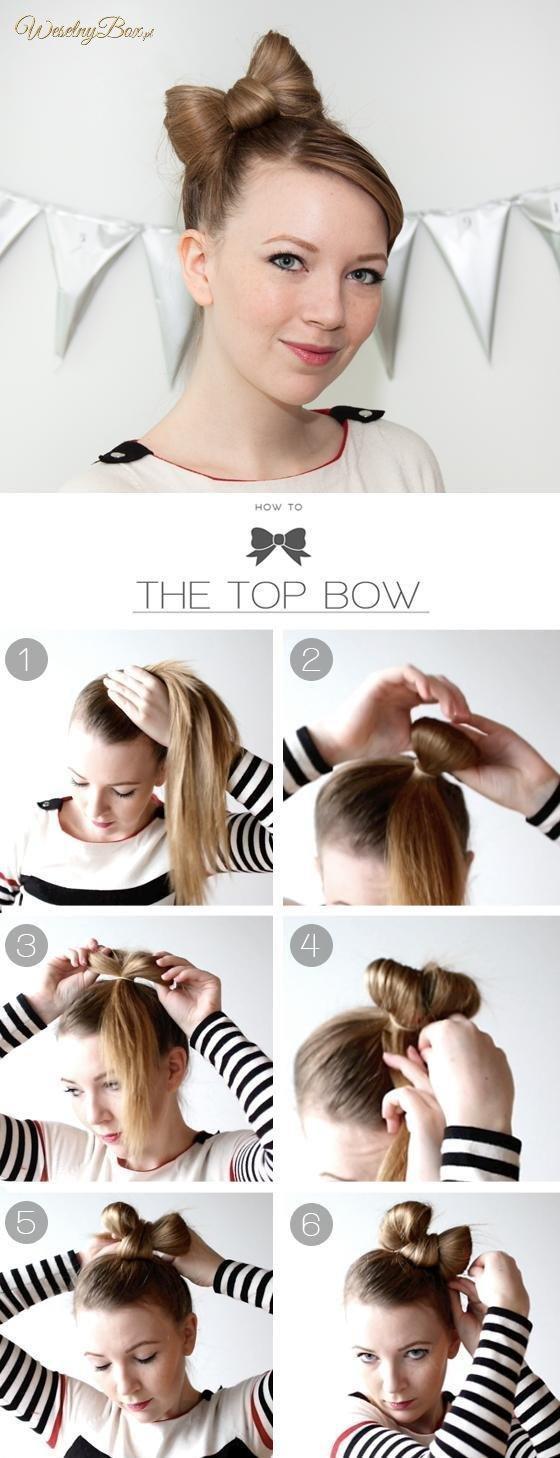 Как сделать бант из волос - пошаговая инструкция 8