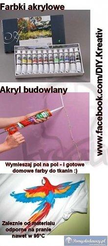 Domowe farby do tkanin, odporne na pranie nawet w 95*C