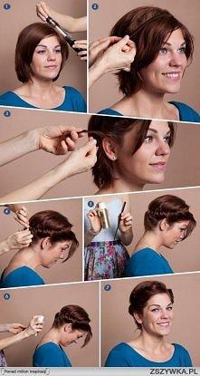 Uczesanie dla krótkich włosów.