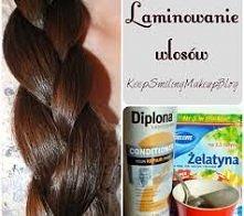 łyzka żelatyny 2 łyzki goracej wody i łyżka odżywki zostawic na włosach na 45...