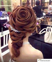 """Fryzura ,,róża"""""""