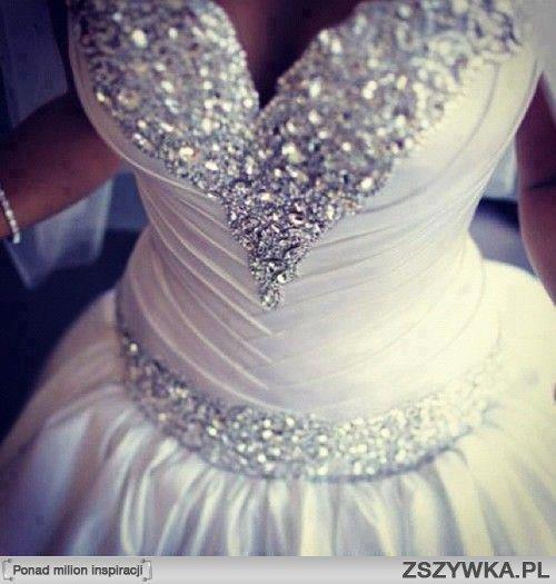 Gorset sukni ślubnej