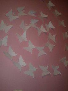 motylki z papieru :)