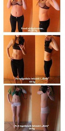 Tak jak obiecałam uzupełniam moje dalsze efekty! :)  Przez ostatnie dwa tyg schudłam tylko kilogram ale za to przez te 3 tygodnie straciłam 29,5 cm ! Jestem mega zadowolona, ale...