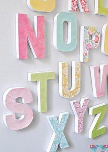 litery handmade - świetna dekoracja ściany :)