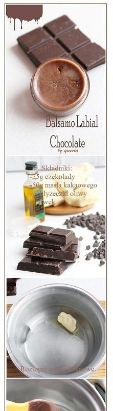przepis na balsam czekoladowy do ust
