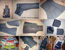 Fartuszek dla dziecka z jeansów :)