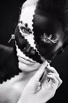 czarno białe