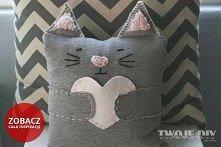 Poduszka kotek (klik) Zobacz jak ją zrobić