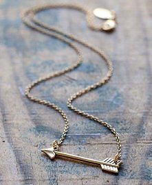 Golden Arrow Necklace by A Mano Trading