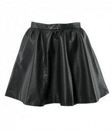 H&M - Spódnica rozkloszowana skórzana zip