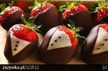 truskawki w czekoladzie :3
