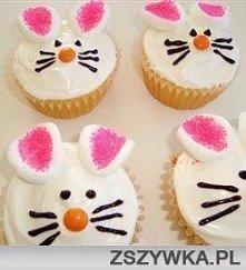 Babeczki króliczki   Ciasto...