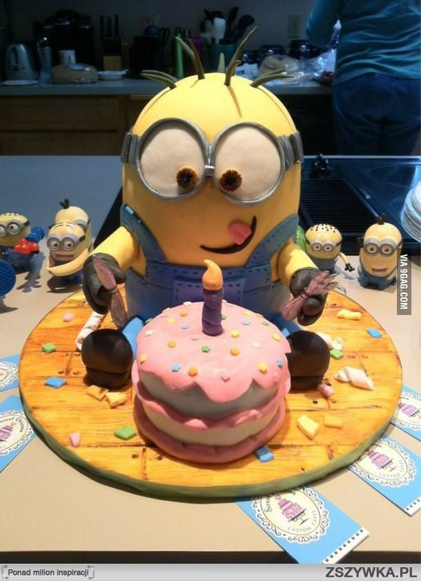 minionkowy tort ^^