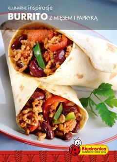 Burrito z mięsem i papryką