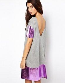 Asos - ASOS Holographic Backless T-Shirt Dress