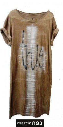 marcinec - Koszulka t-shirt sukienka/tunika TRUE BROWN