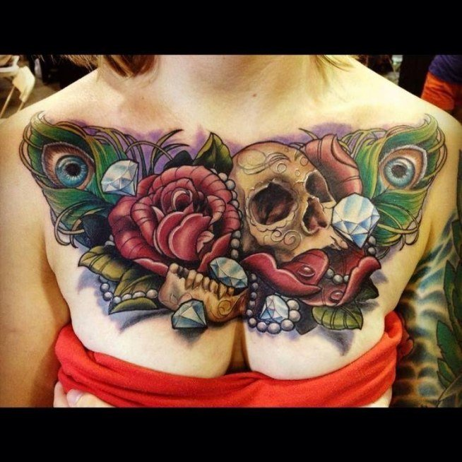 Tatuaż Na Klatce Piersiowej Na Wzory Tatuaży Zszywkapl