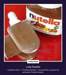 Nutellowe lody ;)