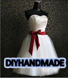 hand made  -Sukienka o kroj...