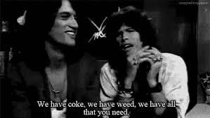 """We have coke, we have weed, we have all that you need"" ~Aerosmith"