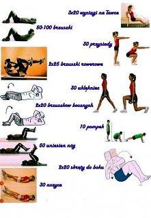 Ćwiczenia na brzuch uda i p...