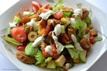 Potrzebujemy: - sałata - kurczak - przyprawa gyros - pomidor zwykły - małe po...