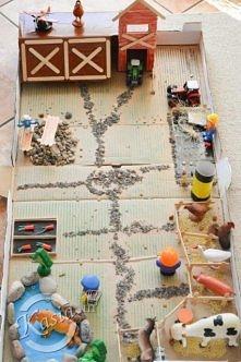 Farma z kartonu dla dziecka. Pełen opis jak ją zrobić znajdziesz po kliknięci...