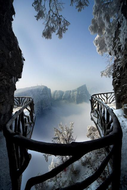 Tianmen Mountain National Park, Zhangjiajie, w północno-zachodniej prowincji Hunan, Chiny