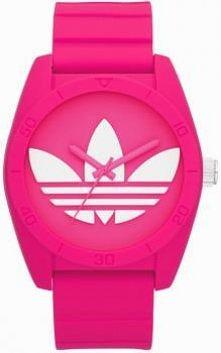 Różowo - biały zegarek Adidas