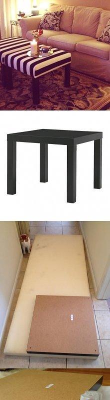 pufa z LACK Ikea