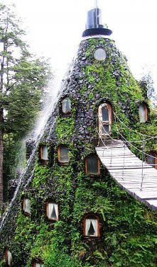 Górski hotel w Chile