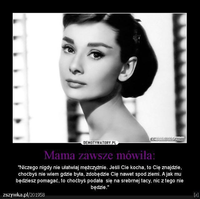 Najpiękniejsza Audrey Hepburn 3 Na Cytaty Opisy Zszywka Pl