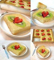 Manakokitrusja - Wegańskie ciasto z kaszy manny Składniki - grysik( kasza manna): 1 szklanka - proszek do pieczenia: 1 łyżeczka - cukier puder w młynku: 0.5 szklanki - mleczko k...