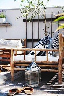 Przytulny balkon: latarenka