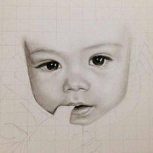 zaczety nowy portret. Prezent dla kolezanki na urodziny- portret Damianka, jej synka :-) wczoraj dopiero zaczelam, wiec jeszcze do dopracowania :*)