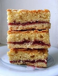 Bakewell Slice czyli migdałowe ciasto z dżemem malinowym  SKŁADNIKI: Na spód ...