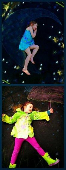 oryginalne fotografie kredą malowane :)