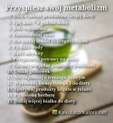 Proste zasady by przyspieszyć metabolizm :)