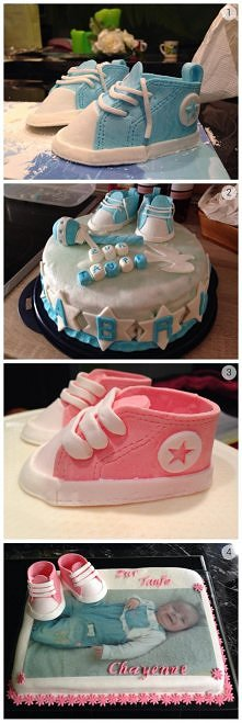 słodkie buciki na tort