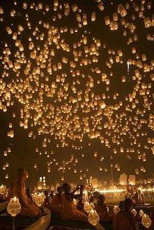 Festiwal lampionów w Tajlandii