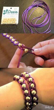Świetna i łatwa bransoletka - prezent dla przyjaciółki
