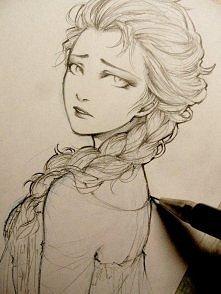 Elsa <3 Piękny szkic.