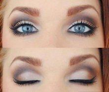 delikatny makijaż :)