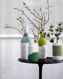 wazony DIY z butelek i słoików