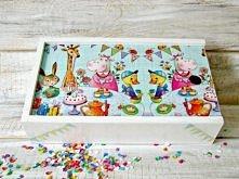Piórnik dla dzieciaków decoupage. Kolorowo i zabawnie :)