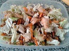 Lunch box - kasza gryczana, pierś z kurczaka, kapusta pekińska, marchewka, pa...